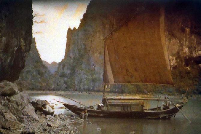 SAMPAN EN BAIE DE HA LONG 1916