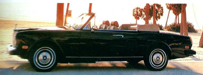 """1977. MON 2è CABRIOLET, LA """"CORNICHE"""" ROLLS ROYCE AVEC CARROSSERIE FABRIQUEE à LA MAIN PAR MULLINER PARK WARD ."""