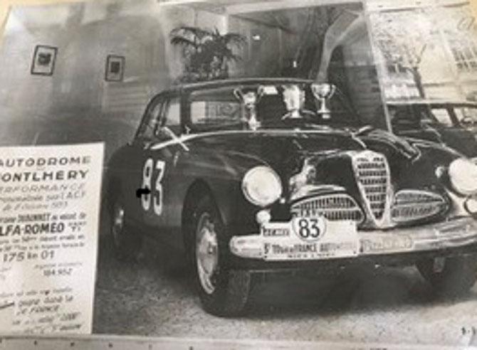 L'ALFA ROMEO DU TOUR DE FRANCE 1953.  C* Catherine BONNET.