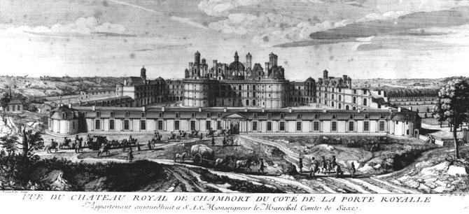 DESSIN de Jacques RIGAUD (1680 + 1754), GRAVEUR  à L' ARSENAL DES GALERES DE MARSEILLE