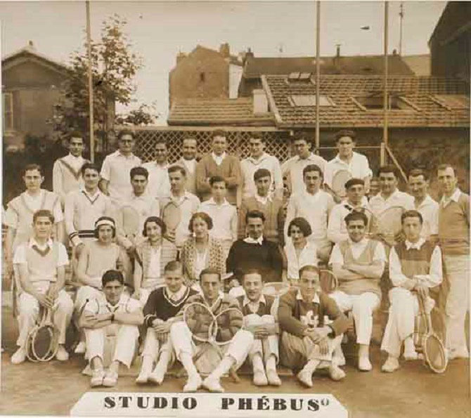 VERS 1930. CLUB DE TENNIS ARMENIEN D'ENGHIEN-LES-BAINS. COLLECTION SARKIS BOGHOSSIAN.