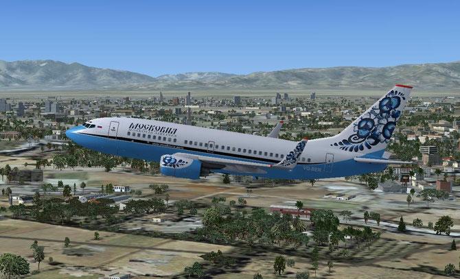 UN BOEING 737-700W  DECOLLE DE SAMARKAND.!!!!! RÊVE ou REALITE ? CE N'EST PAS LE MAG T TWO mais la MOSKOVIA AIRLINES.
