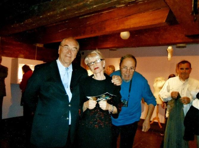 g. à dte. Président Jacques ROCCA SERRA, Mme. Jocelyn ZABALA-GRAINDORGE Directrice et Christian CRES Célèbre photographe de Marseille;