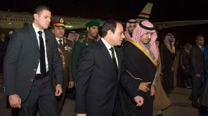 EGYPTE. ARRIVEE DU PRESIDENT ABDEL FATTAH al-SISSI.