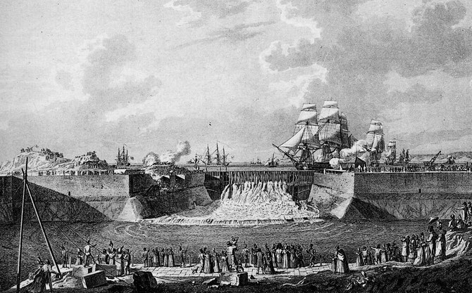 27 Août 1813.  Inauguration du Fort militaire en présence de l'Impératrice Marie-Louise.