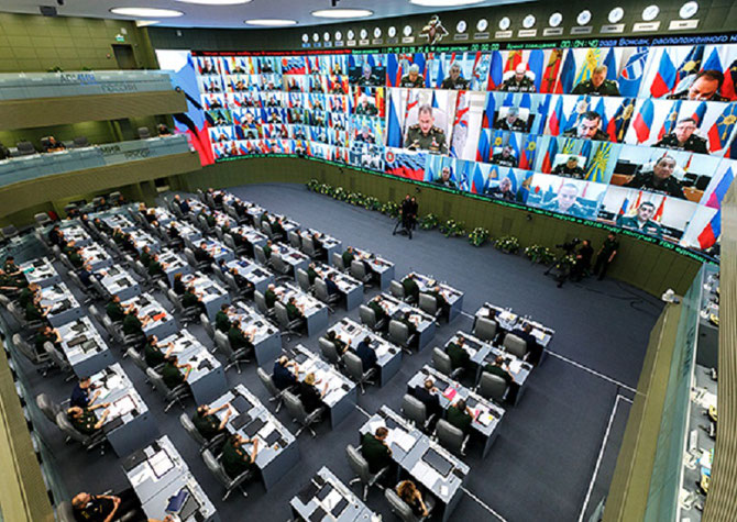 MOSCOU. 1er JUILLET 2016. TELECONFERENCE. C*fr.mil.ru