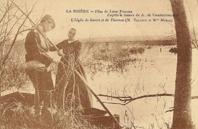 LE FILM REALISEE EN 1925 MONTRE LES SUPERBES PAYSAGES DE LA BRIERE et VA à LA RENCONTRE DE L'ÂME BRIERONNE DE L'EPOQUE