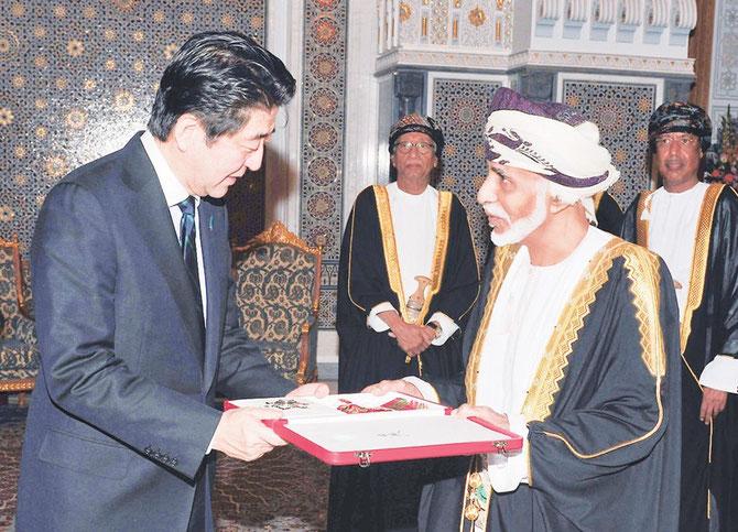 9 JANVIER 2014. Visite d'Etat du premier Ministre Japonais SHINZO ABE