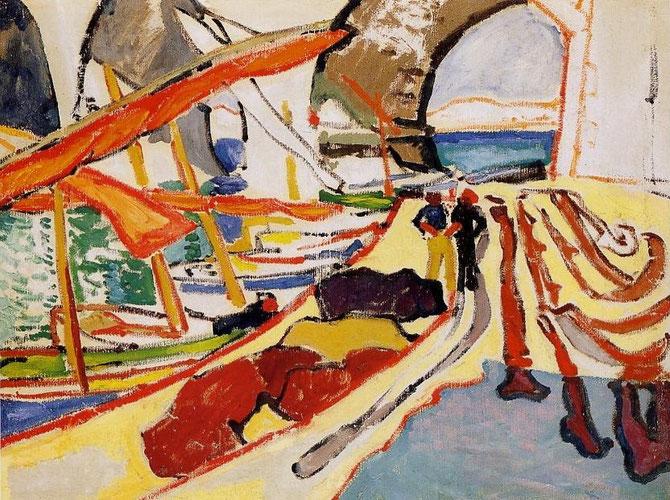 """ALFRED LOMBARD. 1909.  """"VALLON DES AUFFES"""".   MUSEE DES BEAUX-ARTS DE MARSEILLE."""