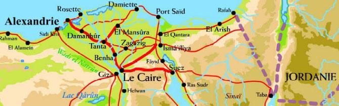 DEUXIEME VILLE ET PREMIER PORT D'EGYPTE, ALEXANDRIE FUT FONDEE PAR ALEXANDRE LE GRAND EN 332 AV. JESUS-CHRIST.