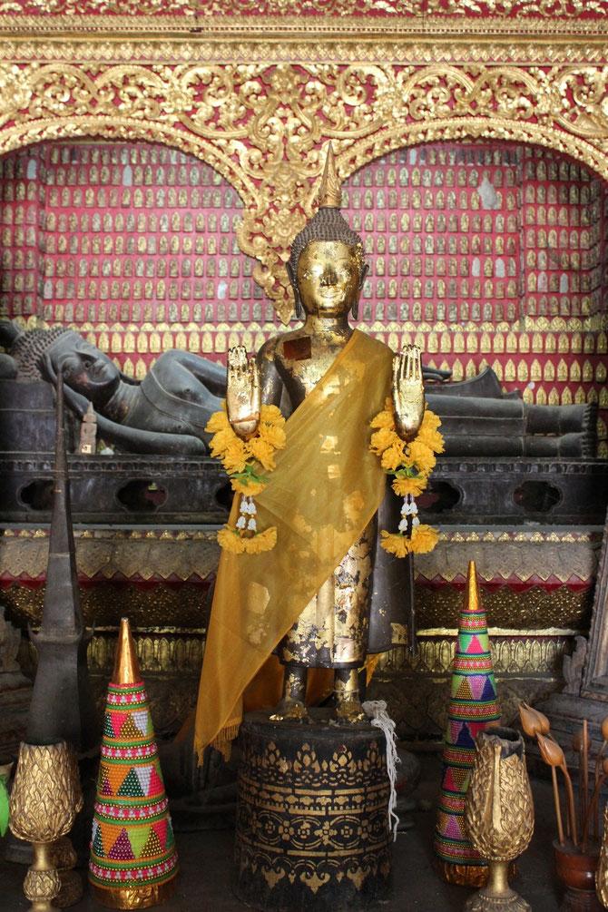 Bouddha couché du XVIès. mesurant presque 2m et prêté à Paris lors de l'Exposition coloniale en 1931.