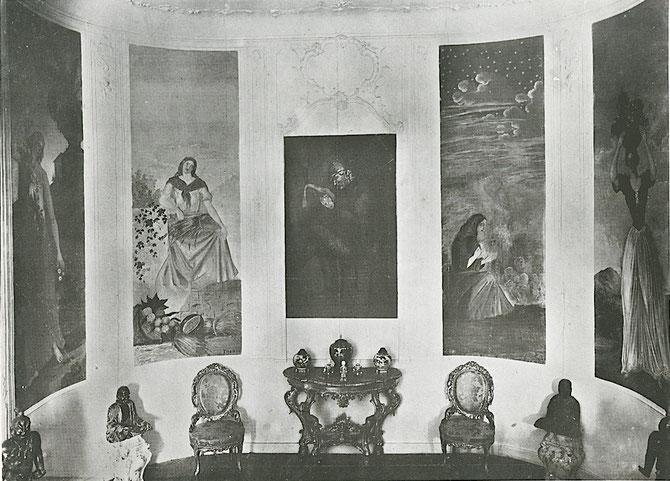 1899. LE SALON AVEC LES GRANDES TOILES DE CEZANNE qui seront démontées et vendues.