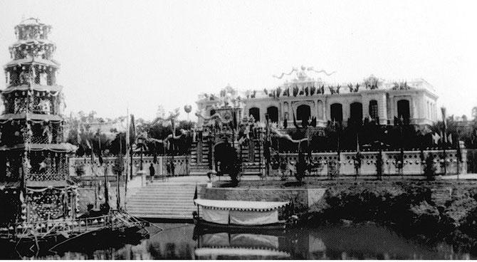 1918. Cérémonie d'INAUGURATION. Le Palais n'avait à l'origine qu'un étage..