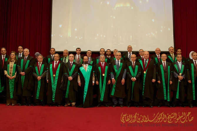 12 MAI 2015. UNIVERSITE DU CAIRE :   SON ALTESSE EST FAIT DOCTEUR HONORIS CAUSA EN SCIENCES SOCIALES.