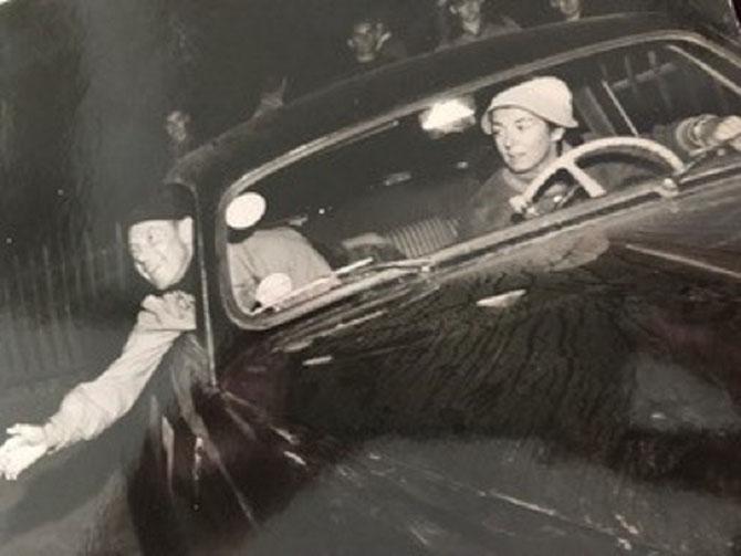 1953. ANDRE DUBONNET et SA FILLE LORRAINE, CO-PILOTE.  C* Catherine BONNET