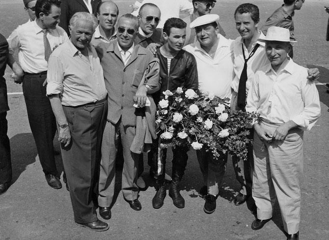 1956. CARLO UBBIALI né le 22 SEPTEMBRE 1929 à BERGAME. 9 FOIS CHAMPION DU MONDE. DE 1953 à 1960 CHEZ M.V. AGUSTA.