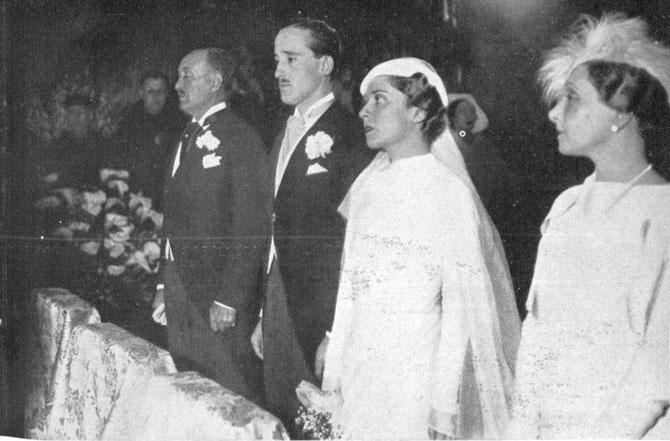 30 AOÛT 1933. MARIAGE DU COMTE GILBERT ET DE DONNA MARIA ELINA.LAINEZ, BASILIQUE DE SAN FRANCISCO