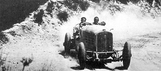 27 Avril 1924. XV eTARGA FLORIO 108km .A.D EMPORTE LA 6e PLACE ( et la 5e COPPA FLORIO) avec l'HISPANO-SUIZA H6C N° I. C* Archives Targa Florio