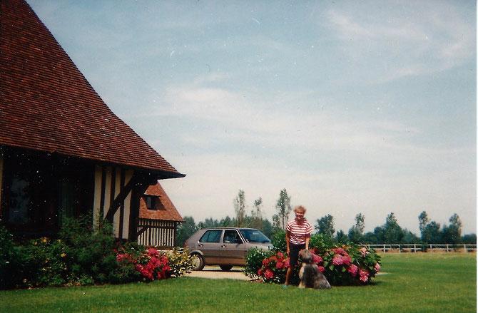 1993. PREMIERES PLANTATIONS  : azalées, rhododendrons, hortensias rivalisent de beauté. Des miliiers de m3 de terre de bruyère ont été déversés dans les massifs.