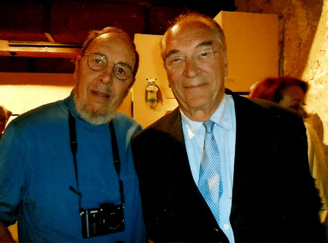 Mercredi 20 AVRIL 2016. LE PRESIDENT Jacques ROCCA SERRA et SON AMI DE PLUS DE 30 ANS, Christian CRES  PHOTOGRAPHE OFFICIEL DE LA M.A.M.A.