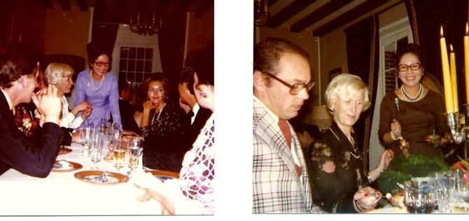 1976. Les Sapins-La Couture-Boussey. A droite,  Philippe AUCLAIRE et Jacqueline. A gauche, Jacqueline face à Noëlle LEVASSEUR.