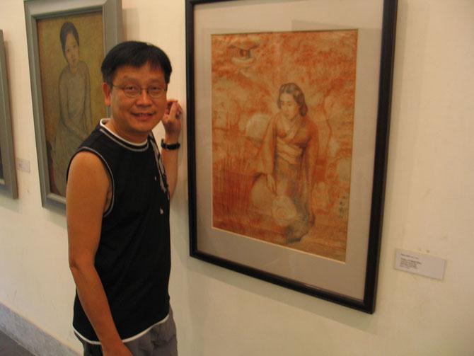 """2010. HANOI. MUSEE DES BEAUX-ARTS : """" UNE FEMME JAPONAISE """" DE NAM SON. C* N.K.K."""