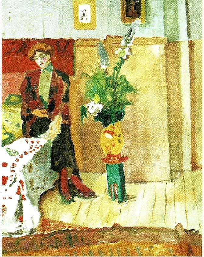 1910. JEUNE FEMME DE LA RUE LAURISTON, HUILE SUR TOILE 116 X 89cm. FONDATION REGARDS DE PROVENCE. MARSEILLE