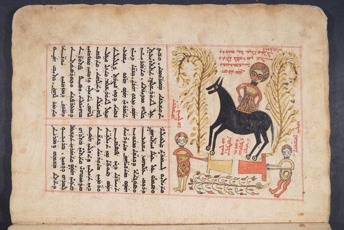 LECTIONNAIRE - KTHAWAD-AWNGALYUN QADYSHA. COPIE  ACHEVEE LE 31 AOÛT 1723. H : 42cm; L : 26,5cm . I00 FEUILLETS.  MOSSOUL.  COUVENT NOTRE-DAME DE L'HEURE.