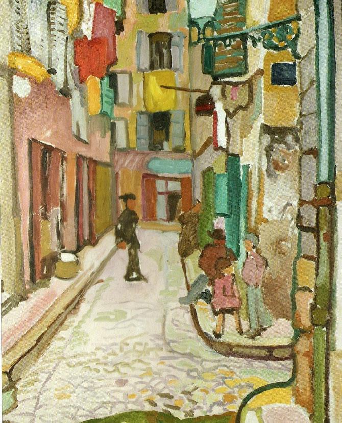 1909. RUE DU VIEUX MARSEILLE. HUILE SUR TOILE 90 X 74ccm. MuMa, MUSEE D'ART MODERNE ANDRE MALRAUX. LE HAVRE...........   ¤ Florian KLEINEFENN