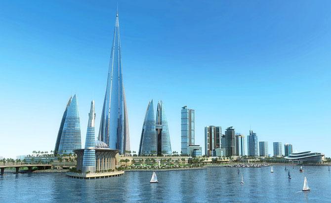 2017. DJEDDAH. 2è VILLE D'ARABIE SAOUDITE 40 ans apres ;  Projet aménagement de la Corniche.