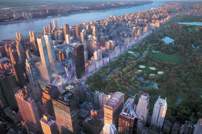 VUE DE NEW-YORK DU 35è ETAGE DU MANDARIN ORIENTAL.