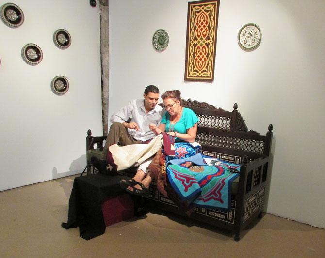 MONSIEUR YOUNES MOHAMED AHMED TAHA ET UNE VISITEUSE DE LA M.A.M.A