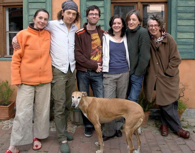 De gauche à droite : ANDREA TEUFEL, DIRK BÖHMER, HEINDRIK SEIPT, DANIELA GEYER, JILL DENTON, DOMINIQUE CUGLIERI.  UNE EQUIPE PASSIONNEE ET PASSIONNANTE.