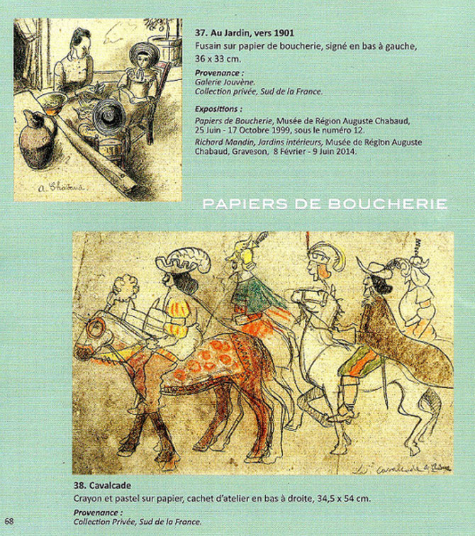 EXTRAIT CATALOGUE SEYSSAUD VERDILHAN CHABAUD GALERIE ALEXIS PENTCHEFF. Page 68.   Courtesy GIULIA & ALEXIS  P.