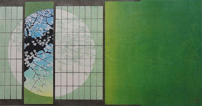 """Tsuzen NAKAJIMA.  """" RANMAN . PLEINE FLORAISON """".  27 X 51cm."""