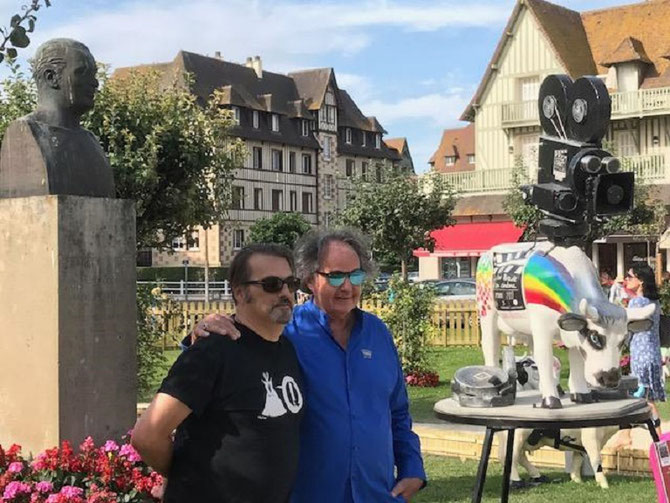 "DEAUVILLE 7 Août 2017. EXPO ""LA COW FAIT SON CINEMA"". LA DERNIERE PHOTO DE GONZAGUE. MERCI OUEST-FRANCE"
