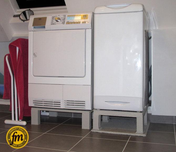 Ré-hausser une machine à laver