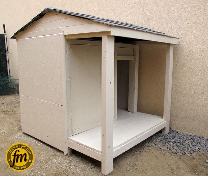 Niche pour chien site de fr d ric mainguet - Fabrication niche en bois pour chien ...