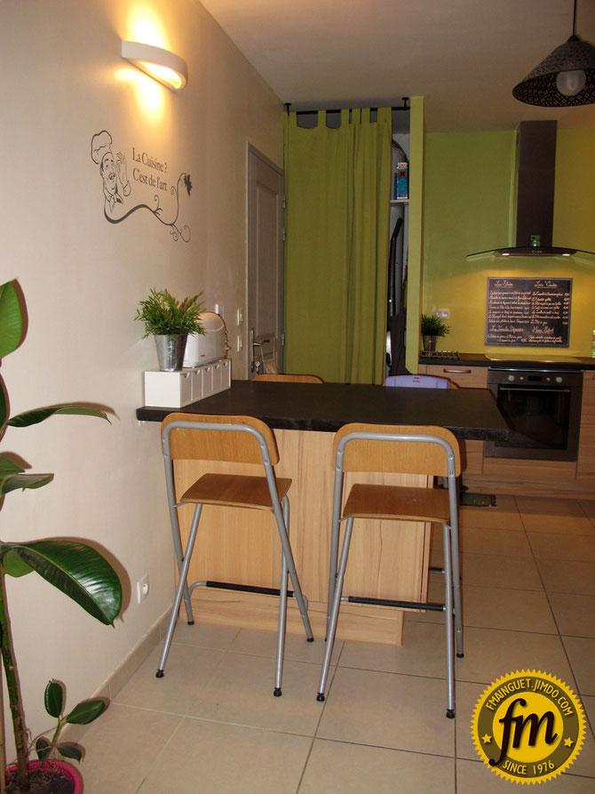 Fabrication table pour cuisine