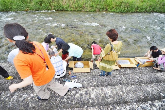 Animal Releasing Practice, 放生実践、 Tokuzumi, Taanbun, Tanbun、helping gods.