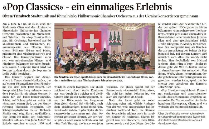 Oltner Tagblatt, 13.05.2015