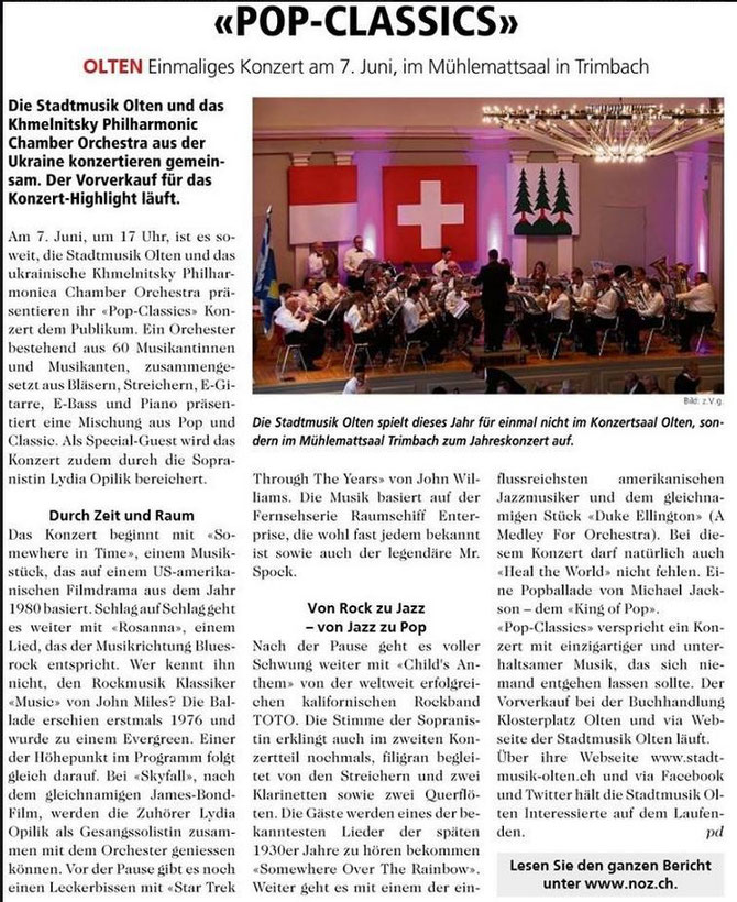 Neue Oltner Zeitung (NOZ), 13.05.2015