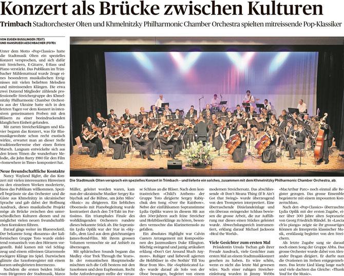 Oltner Tagblatt, 9.06.2015