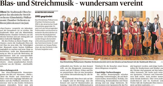 Oltner Tagblatt, 29.01.2015