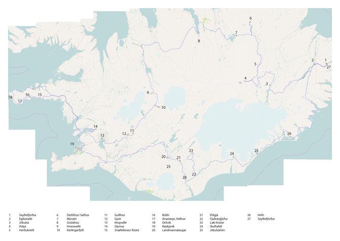 geplante route. 2400 km