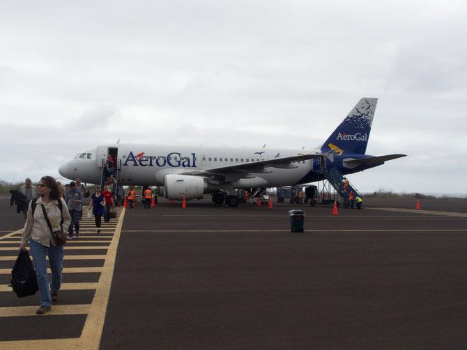 サンサルバドル空港に到着。