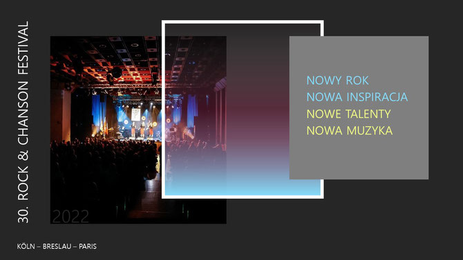 """Wiadomości o 28. Festiwalu Rock & Chanson """"Köln-Breslau-Paris"""" 2021 w Kolonii Porz, organizowanym przez Polonica e.V."""