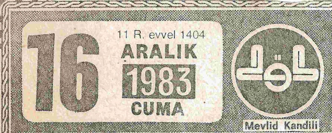 Aus dem türkischen DIYANET-Kalender
