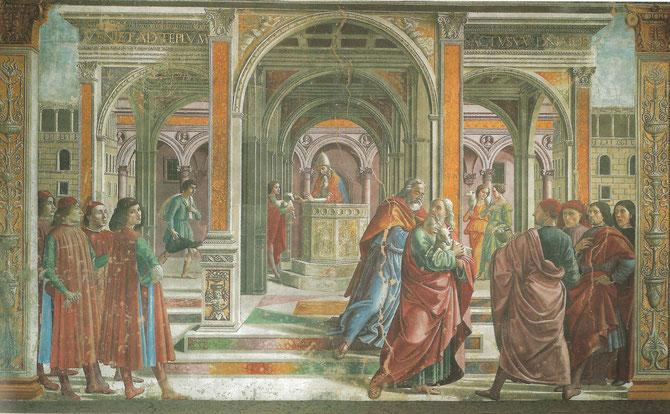 Ghirlandaio: Joachim im Tempel