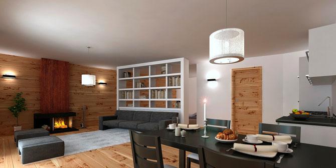 53 mq piano terra appartamento in baita venduto for Appartamenti montagna design